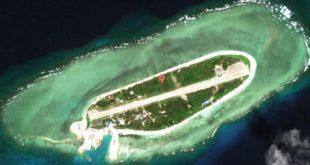 從google地圖上看南海仲裁後爭議持續擴大的南海太平島。(圖片來源:google earth)