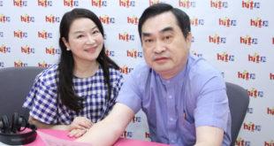 台北副市長鄧家基(右)上午接受周玉寇(左)專訪時表示,希望大巨蛋談判能夠出現奇蹟。  圖片來源:Hit Fm提供