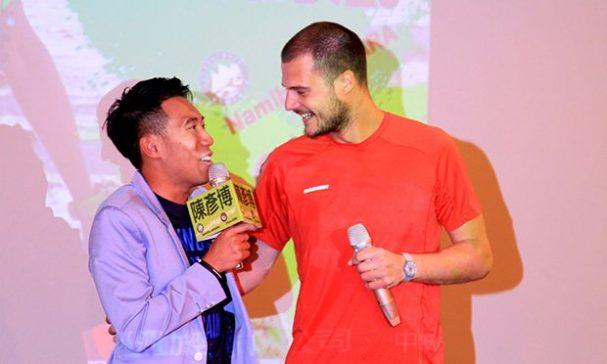 菲利浦到台北給陳彥博支持,現場2人見面又驚又喜。(圖片來源:主辦單位)
