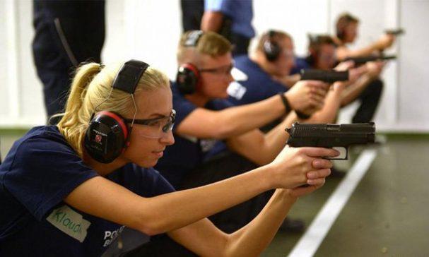 德國警察訓練不著重槍的操作。(圖片來源:dw)
