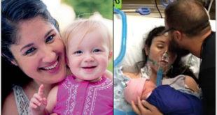 當初難產瀕死的雪莉,現在女兒已經2歲大了。(圖片來源:Shelly Ann Cawley/facebook)