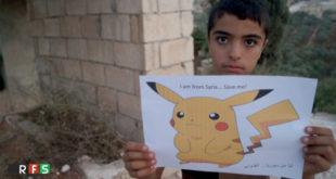 敘利亞的兒童希望化身寶可夢,被全世界的玩家拯救。(圖片來源:RFS_mediaoffice/Twitter)