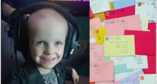 蒂莉即將過5歲生日,許多人寄卡片給她加油打氣。(圖片來源:Facebook/Tillie Mae's Story)
