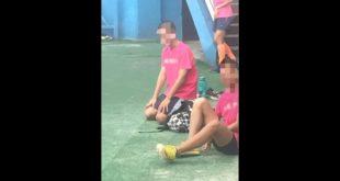 光明國中田徑選手,在賽前遭教練當眾打巴掌,罰跪20分鐘。(翻攝網路)