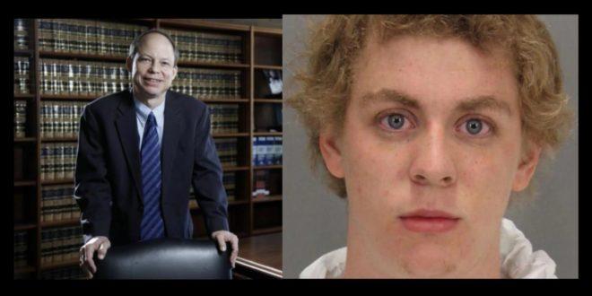 聯邦法官珀斯基(左)只輕判特納(右)6個月有期徒刑,還有機會關3個月就獲釋,引發民眾怒吼。(翻攝網路)