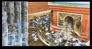 新北市淡水有一名80歲的老婦人,疑似不滿兒子打算把她送到安養院,她氣得將近百萬元現鈔,拿到家附近廟宇的金爐內焚燒!(翻攝網路)