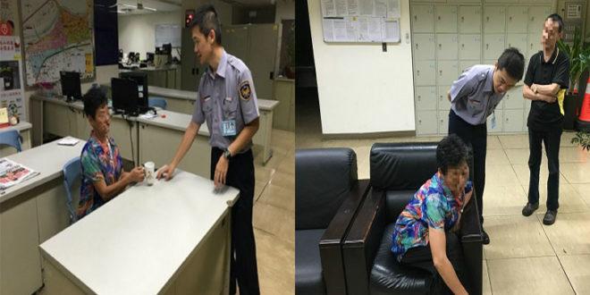 實習生工作初體驗,奉茶打開迷途老婦心房。(圖片來源:台北市政府)