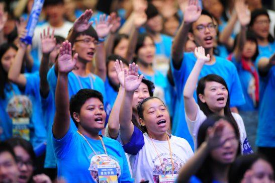 飢餓勇士宣誓。(圖片來源:台灣世界展望會)