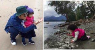 宥勝讓女兒吃石頭、吃沙,網友認為讓孩子去嘗試是很好的教育。(合成圖,圖片來源:宥勝之旅臉書)