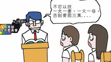 Photo of 台大考題「一夫一妻」罰3萬 漫畫諷刺教育部「一言堂」