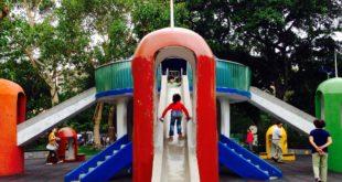 青年公園僅剩的一座太空堡壘溜滑梯也將更名為「古蹟」,不能玩只能看。(圖片來源/特公盟)