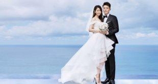林心如和霍建華婚紗照浪漫動人。(圖片來源/翻攝自霍建華臉書)