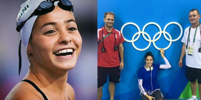 馬蒂妮出生在敘利亞大馬士革,由於國家飽受戰亂,她常常得咬牙泡在屋頂被炸開的泳池裡訓練,今年如願登上奧運舞台。(圖片來源:翻攝臉書)