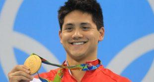 21歲的新加坡泳將史庫林,擊敗了偶像美國「飛魚」菲爾普斯,勇奪100公尺蝶式奧運金牌。(圖片來源/翻攝自史庫林臉書)