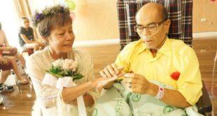 愛情長跑12年的情侶在台南安南醫院交換婚戒、互許終生。(翻攝網路)