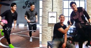 周杰倫(左圖左、右圖右)邀林書豪合拍新歌MV,兩人尬籃球又尬鋼琴,讓球迷、樂迷大飽眼福。(合成圖,照片提供:周杰倫Jay Chou臉書)
