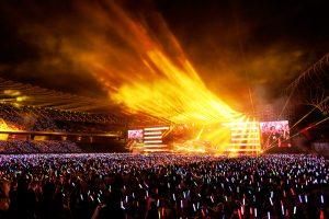 五月天JUST ROCK IT高雄世運主場館嗨翻5.5萬人。(圖片來源:相信音樂提供)