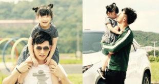 溫昇豪放假回台總是把握時間與女兒膩在一起,享受天倫之樂。(合成圖,照片提供:溫昇豪臉書)