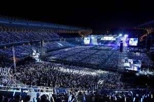 5.5萬人在高雄世運主場館狂歡。(圖片來源:相信音樂提供)
