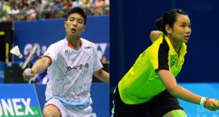 周天成(左)和戴資穎(右)紛紛闖入羽球單打16強。  圖片來源:體育署