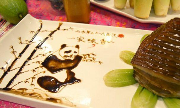 家傳味客家餐廳家味香,食材新鮮美味,在盤子上作畫別有一番美感。(謝婷婷攝)