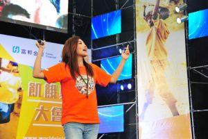 A-LIN現身演唱為飢餓勇士加油。(圖片來源:台灣世界展望會提供)