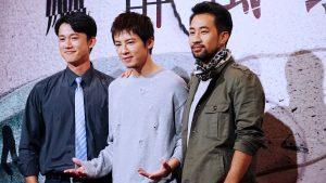 黃健瑋(右三)將遠赴中東國家拍攝《麻醉風暴2》部分場景。(圖片來源:吳宜庭攝)