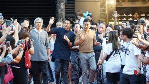 全場600多位影迷熱烈歡迎巨星到場。(圖片來源:吳宜庭攝)