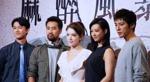 出演《麻醉風暴2》的主要演員出席開拍記者會。(圖片來源:吳宜庭攝)