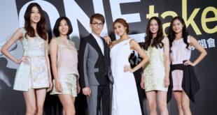 陳思璇率眾名模為林志炫演唱會宣傳活動站台。(圖片來源:吳宜庭攝)