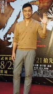 周青雲拍攝武打戲極其辛苦,還瘦了4公斤。(圖片來源:吳宜庭攝)