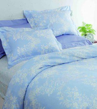 HOLA home絮語木棉絲抗菌床包兩用被組-雙人