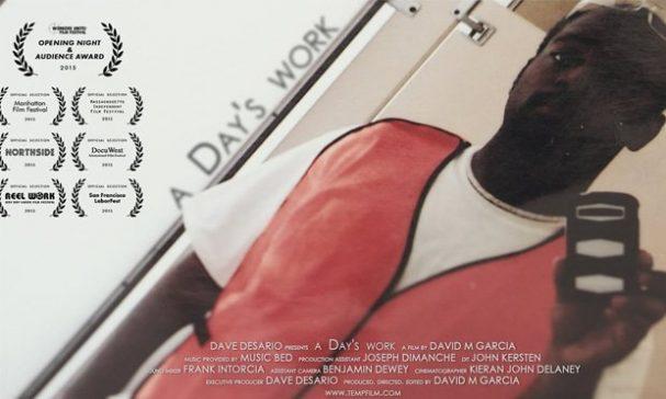 開幕片《非典型死亡事件簿》片中一名21歲男孩戴維成為派遣工的故事。封面為戴維第一天上班拍下最後身影的照片。(圖片來源:vimeocdn)
