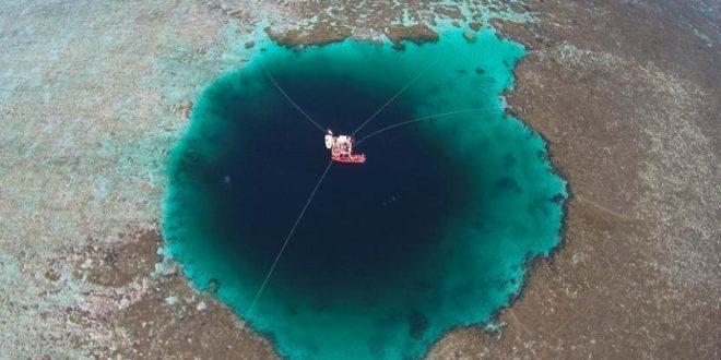 西沙群島的「三沙永樂龍洞」為是世界上最深的海洋藍洞。(圖片來源/翻攝自網路)
