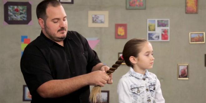 菲利浦從艾瑪1歲時就為她編髮,現已成為一個專業編髮達人。(圖片來源:翻攝網路)