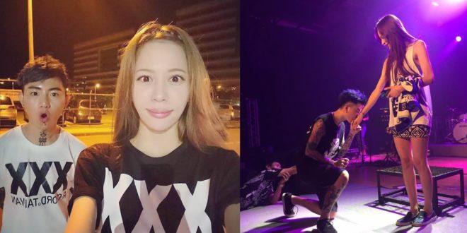 謝和弦在演唱會上向老婆大唱定情歌曲,Keanna成為這次演唱會中「最閃」焦點。(圖片來源:翻攝自謝和弦臉書)