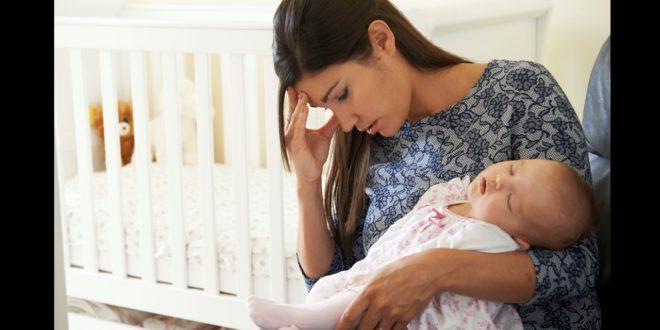 老公小孩都不是自己的,新手媽媽深深感覺自己的人生毀了。(示意圖)