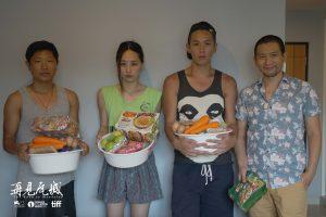 王興洪(左起)、柯震東、吳可熙及趙德胤每天都自己料理食物。(圖片來源:岸上影像及前景娛樂提供)