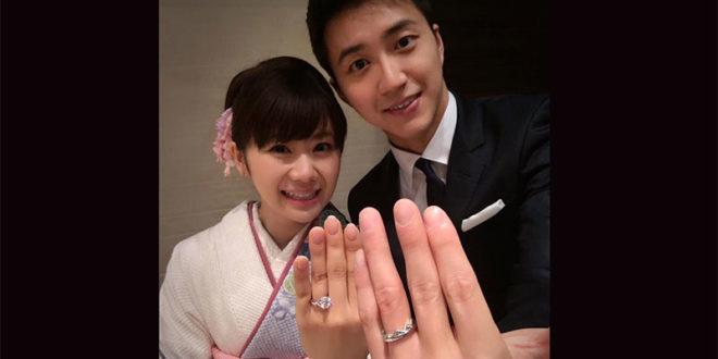 江宏傑和福原愛大秀恩愛,兩人已經登記結婚,預計年底或明年初舉行婚禮。  圖片來源:江宏傑臉書