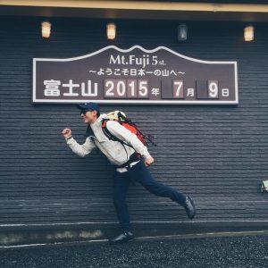 陳勢安去年不但勇登富士山,還在結束後趕去參加鐵人三項。(圖片來源:陳勢安臉書)