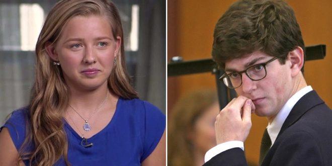 受害的少女普勞特(左)與當初性侵她的學長萊布里(右)。(翻攝網路)