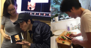 愛家愛妻的王力宏開始放「陪產假」,親自下廚料理健康的食物為老婆加油打氣。(合成圖,照片提供:翻攝王力宏 Wang Leehom臉書)