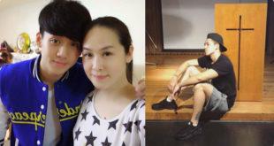 金友莊(左圖右)母親因多重器官衰竭病逝,寶弟(左圖左、右圖)強忍悲傷期待未來「天家見」!(合成圖,照片提供:翻攝葛兆恩 寶弟臉書)