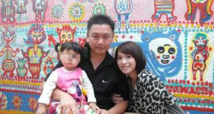 海巡人員柯貞郁為了救罹患「膽道閉鎖」的女兒,努力減肥消除脂肪肝,只為能捐肝救愛女。(翻攝臉書)