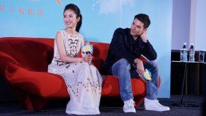 林依晨與鳳小岳今天出席電影記者會。(圖片來源:吳宜庭攝)