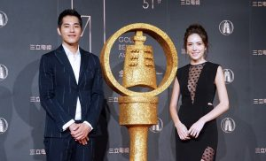 藍正龍與許瑋甯今日下午一同公佈金鐘51入圍名單。(圖片來源:吳宜庭攝)