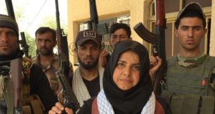 伊拉克39歲婦女哈娜迪領導70男兵對抗IS,堪稱是「地表最強阿嬤」。(圖片來源/翻攝自網路)