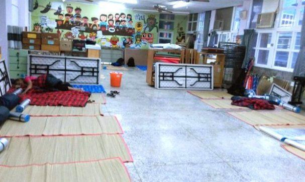 緊急成立的安置中心。(照片翻攝台灣基督長老教會臉書)