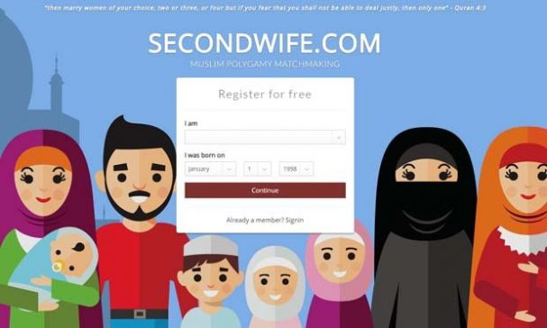 SecondWife.com是杰拉瓦針對穆斯林男子創立的尋找第二任妻子網站,頗受歡迎。(照片摘自SecondWife官網)