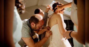 一名婚禮攝影師將一段敍利亞難民在意外中解除了一場婚禮危機。溫馨的故事引起網友回響。(照片翻攝thestar)